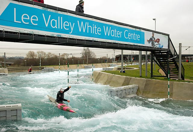 The 1,000-acre River Lee Country Park near Hertfordshire (about 18 miles north of Olympic Park) will feature a nearly 1,000-foot competition canoe slalom course and a 500-foot training course fed by a 2.5-acre lake.