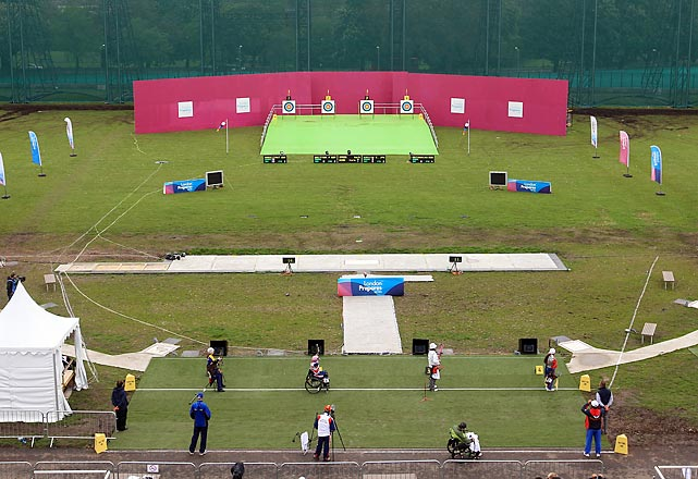 Expect plenty of shooting and archery at the new, temporary site of 36 Olympic events on the edge of Woolwich Common in southeast London, nearby to Greenwich Park.