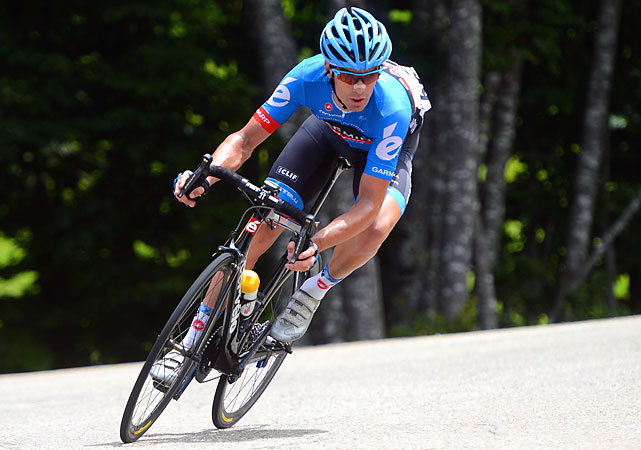 "David Millar, a reformed ""ex-doper,"" won the 12th stage by leading a five-rider breakaway as the race left the Alps."