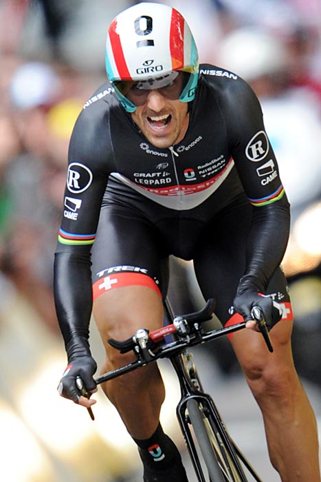 Swiss cyclist Fabian Cancellara opened the 2012 Tour de France on June 30 by winning the four-minute individual time trial, his fifth career victory in the prologue.