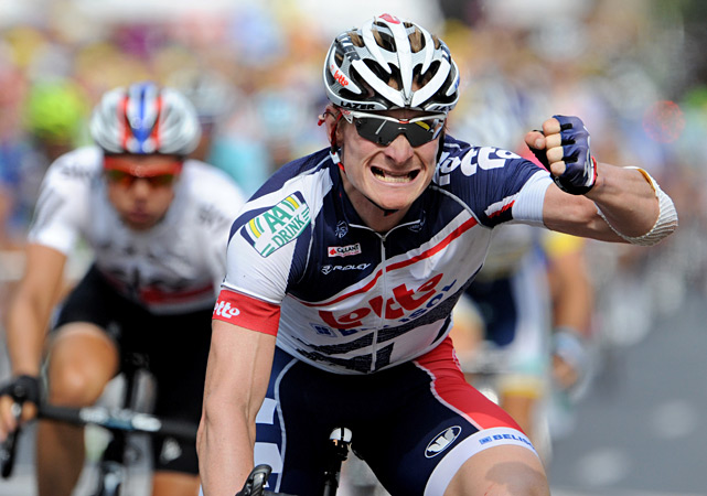 Andre Greipel claimed his third stage win of this tour, beating Peter Sagan in a photo finish in the 135-mile run. Greipel also won the fourth and fifth stages.