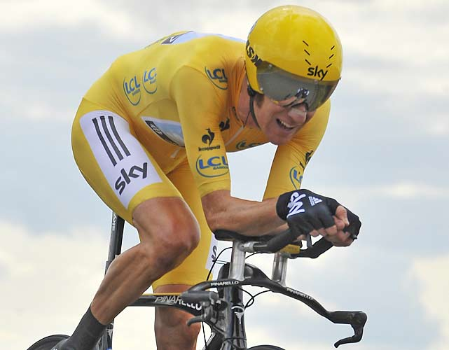 Bradley Wiggins dominated the pack for the victory in Stage 19, his second stage win of the three-week race. The victory all but wrapped up the Tour de France title for Wiggins, who looked to become the first Briton to win cycling's most prestigious race.