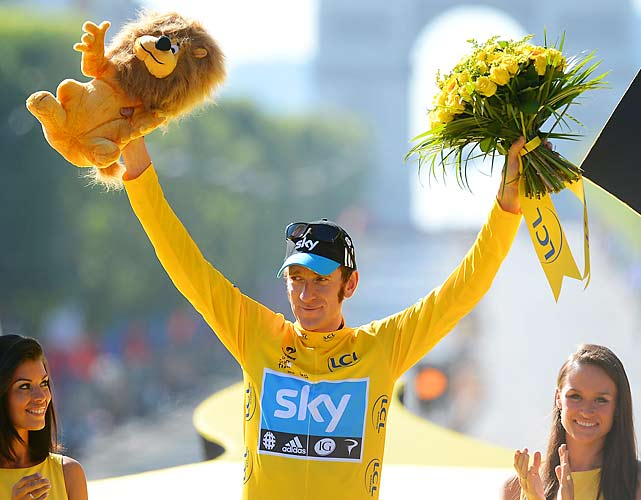Bradley Wiggins took home the win in the 99th Tour de France, becoming the first British rider to emerge victorious in cycling's most prestigious event. Wiggins locked up the victory by winning the final time trial a day earlier in Stage 19.