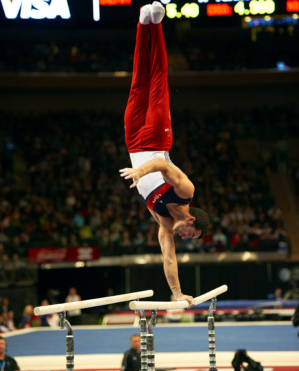 Leyva is a Cuban-American gymnast, born in Cuba in 1991.  In 2009 he became the youngest member of the U.S. national senior team when he was only 17 years old.  That same year he won the gold medal on the horizontal bars and the silver on the parallel bars.  In 2011, he was the U.S national all-around gold medalist and the 2011 world champion on the parallel bars.  As a high bar specialist, Leyva has a lot of Olympic potential for this summer.
