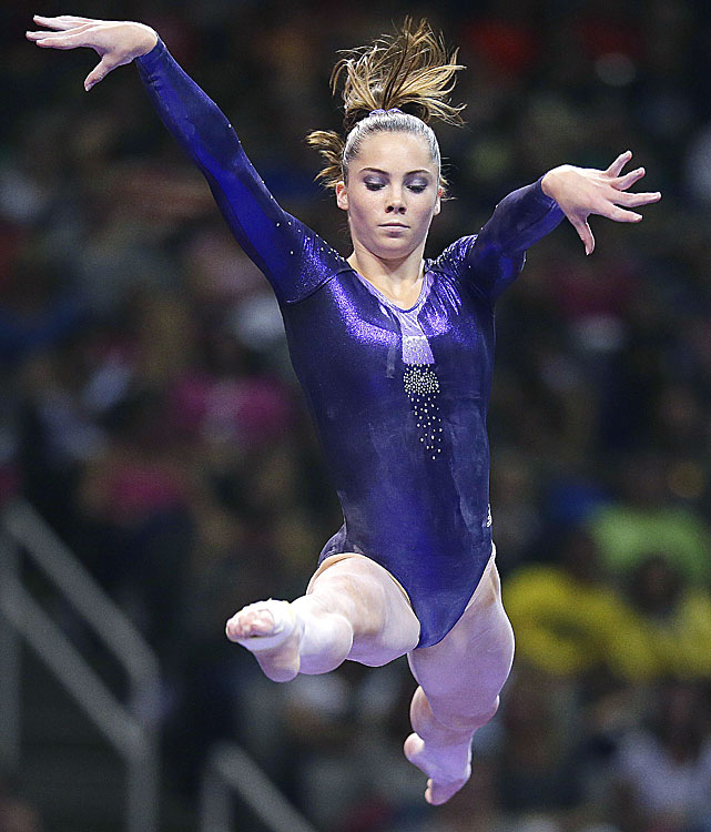 Maroney was a member of the 2011 world championship team that won gold. She is also the reigning world champion on the vault. She is 16-years-old from Laguna Niguel, CA.