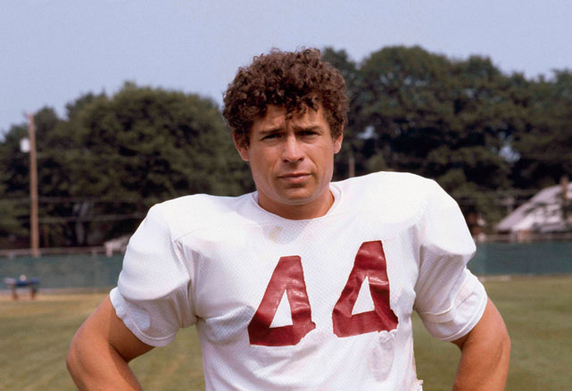 John Riggins poses for the camera during Redskin training camp.  After sitting out the entire 1980 season over a contract dispute, Riggins returned in 1981 and ran for 714 yards and 13 touchdowns.