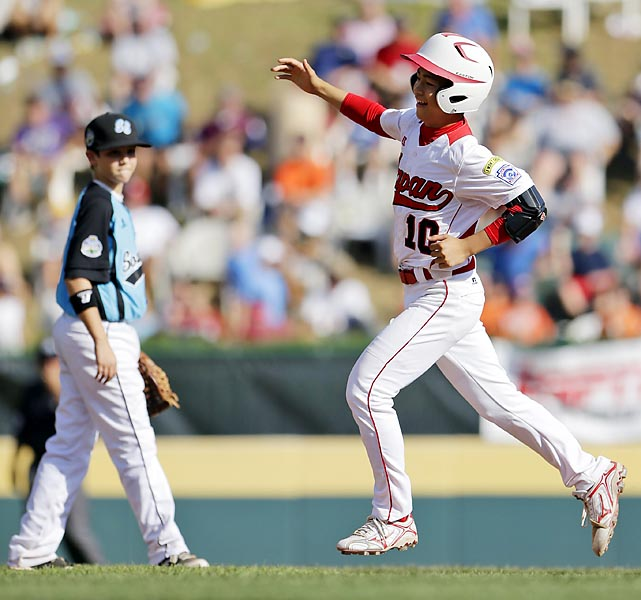 Noriatsu Osaka hit three homers and tripled, and Japan limited Tennessee's potent lineup to two hits. A team from Japan won the title for the second time in three years after a seven-year drought. Starter Kotaro Kiyomiya struck out eight in four innings and added an RBI single.