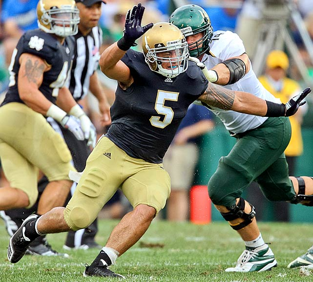 Te'o ranks eighth on the Irish's career tackles list and was one of four players to be selected to the Bednarik, Butkus, Lott and Lombardi awards watch lists at the same time last season.