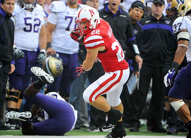 The durable Burkhead carried the ball at least 20 times in eight games last season and was two carries shy (284) of the Huskers' single-season record.