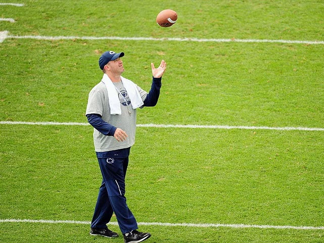 Penn State head coach Bill O'Brien prepares for practice on Aug. 16.