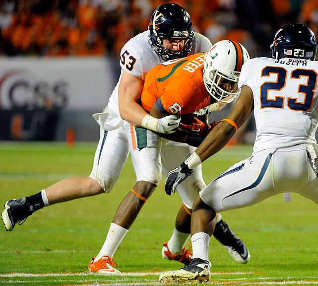 Greer led the Cavaliers with 103 tackles, including six for loss.