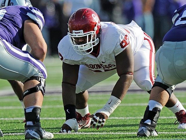 It took longer than expected for the former Parade All-America to establish himself as a consistent force in the middle, but he had his best game (five tackles, including two for loss) in the Sooners' Insight Bowl win over Iowa.