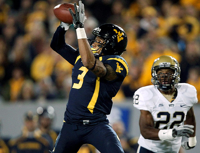 Bailey emerged last season as the big-play wideout in Mountaineers coach Dana Holgorsen's vertical passing attack. He had 1,279 yards on 72 catches for an impressive 17.8-yard average.
