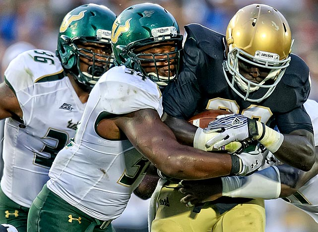 Lattimore lead the Bulls with 94 tackles and seven sacks last season while tallying five double-digit tackle games.