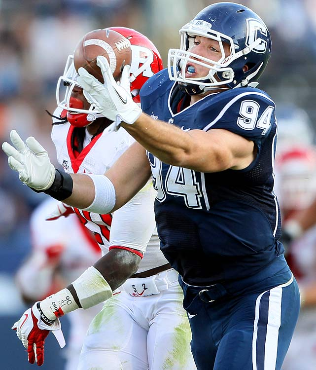 Griffin's was the Big East's most prolific tight ends in 2011, snagging three touchdowns and 499 yards, but his substantial blocking skills might be his most overlooked trait.