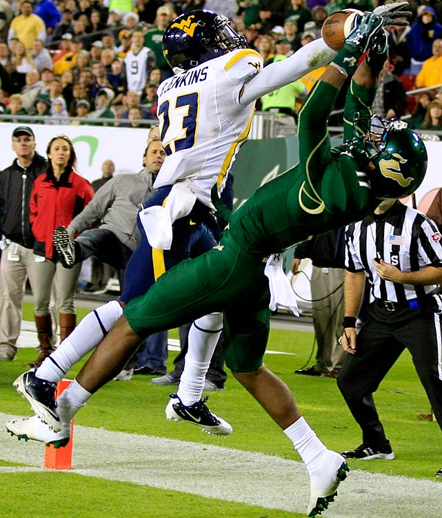 Griffin was the top target for USF quarterback B.J.Daniels in 2011, leading the team with 530 yards and 43 receptions despite missing four games.