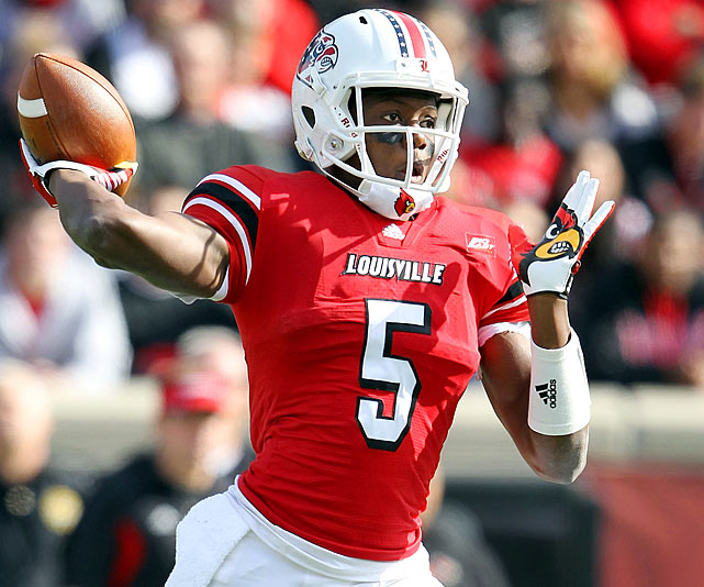 The Big East Rookie of the Year threw for a Louisville freshman record 2,129 yards (with 14 touchdowns) after becoming the school's first true freshman starting quarterback since 1976.
