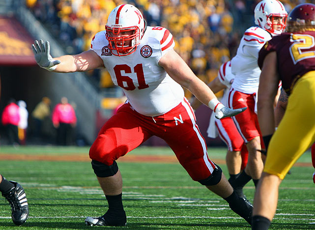 The former walk-on has emerged as the line leader for the run-happy Huskers.