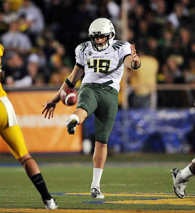 One of three Ray Guy finalists last season, Rice averaged 45.9 yards per punt. His skill at coffin corner kicks enabled the Ducks to rank first in the country in net punting yards (41.5).