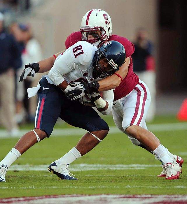 The instinctive inside linebacker led Stanford in tackles in 2010 before losing much of `11 to a knee injury.