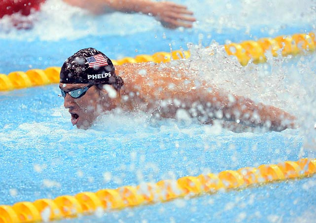 Michael Phelps takes part in his last competitive swimming event of the 2012 Olympics, and perhaps ever in his career.  In the 4x100m Medley Relay final, Phelps led the team to a gold medal, his 18th career gold, as he swam the butterfly leg of the race.