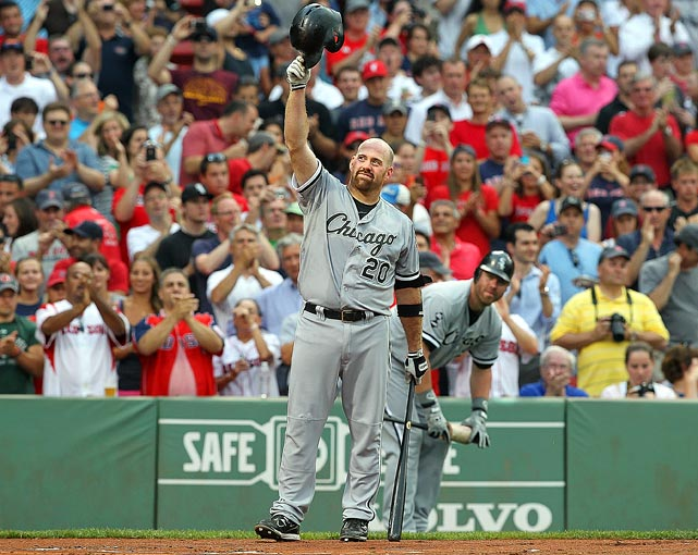 2012 stats with Red Sox: .233 Avg, .315 OBP, 4 HR, 14 RBI, 25 Runs, 0 SB    Traded June 24 with cash for OF Brent Lillibridge and P Zach Stewart.