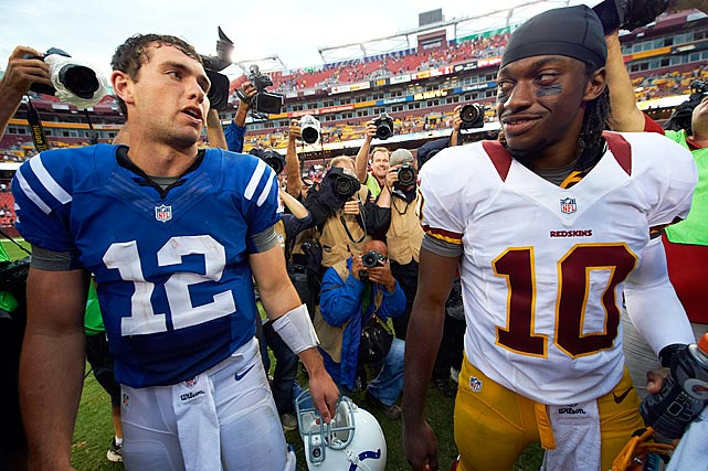 None of the four first-round rookie quarterbacks will play for winning teams in 2012. But while Ryan Tannehill and Brandon Weeden will not convince anyone that the quest to find a franchise quarterback is over in Miami or Cleveland, there will be no doubt by season's end that Andrew Luck and Robert Griffin III were the right calls to make at the game's most pivotal position. If it's not apparent already.