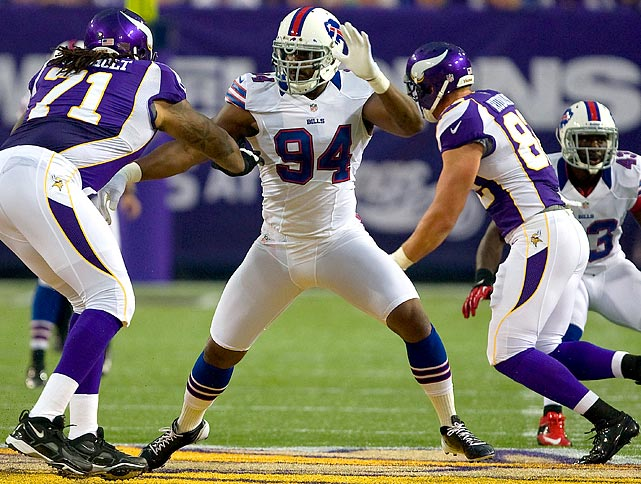 Buffalo gave Mario Williams the richest deal for any defensive player in NFL history, even though the 2006 No. 1 pick missed most of last season with a  torn pectoral. But the Bills have missed the playoffs for 12 straight years, and the locals are getting restless as doubts over the team's long-term future in Buffalo have risen, meaning the Williams deal was a necessary big splash.
