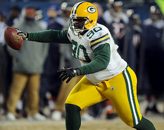 """B.J. Raji, aka """"The Freezer,"""" hasn't taken long to make his mark on the NFL. In three seasons he's earned a Pro Bowl nod and won a Super Bowl. But his dominant play on the line isn't the only thing that helped secure the Packers' championship -- in the 2011 NFL Championship Game, the 340-pounder (and the 81st best player in the league, according to his peers) intercepted a pass and returned it 18 yards for the game's deciding score, becoming the heaviest player in league history to score a playoff touchdown."""