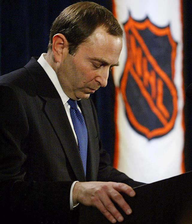 NHL commissioner Gary Bettman announced the cancellation of the 2004-05 season on Feb. 16, 2005, the first time a full season of one of the four U.S. pro sports leagues was washed out. Due to a labor dispute, no Stanley Cup would be awarded for the first year since 1919. The lockout began Sept. 16, 2004 and lasted until July 21, 2005.