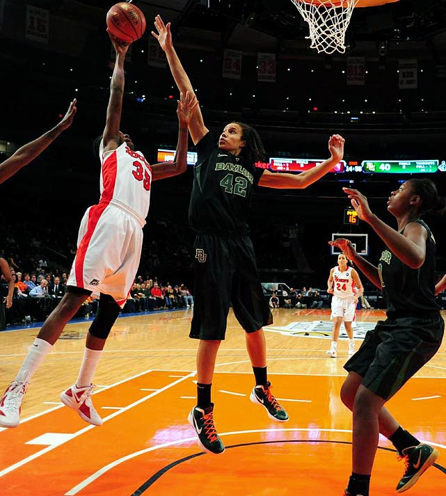 One of the most dominant college basketball players in history, Griner led Baylor to an undefeated season and NCAA title as a junior in 2011-12. The 6-8 center is an intimidating presence inside, blocking 5.1 shots per game last season. She was widely expected to take the final roster spot for the London Olympics but withdrew from consideration. While the U.S. women's squad didn't need any help on its way to its fifth-straight gold in London, Griner's presence surely won't hurt in 2016.