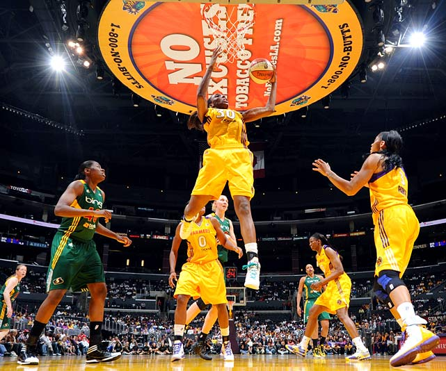 The Los Angeles Sparks drafted the 6-2 forward with the first pick in this year's WNBA Draft, and she is expected to develop into one of the league's top players. A three-time All-American at Stanford, Ogwumike has some experience with the Olympic process: She has been a member of the USA Basketball's select team, which scrimmages against the national team. Before long, she'll likely be switching sides to join the national team instead.