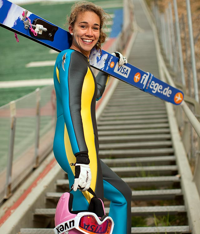 The favorite to win gold at the 2014 Olympics, Hendrickson won the inaugural women's ski jumping World Cup last December. The 18-year-old, nicknamed Giggles, first got on skis when she was 2. Now, she's the star of the U.S. ski jumping team.