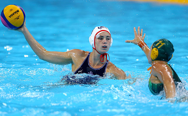 Mel Rippon helped the U.S. women's water polo team dispatch Australia to reach the championship game.
