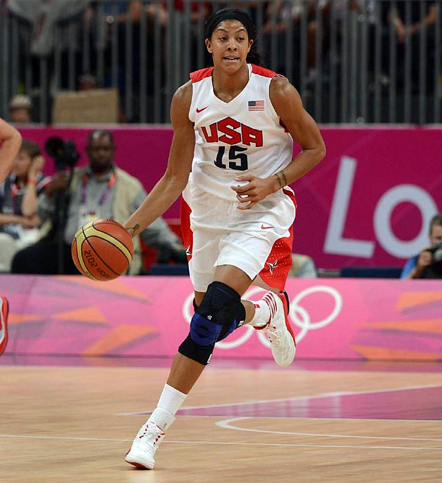 Candace Parker scored 12 points during USA's blowout match against Canada. The U.S. has now won 39 consecutive games in the Olympics.