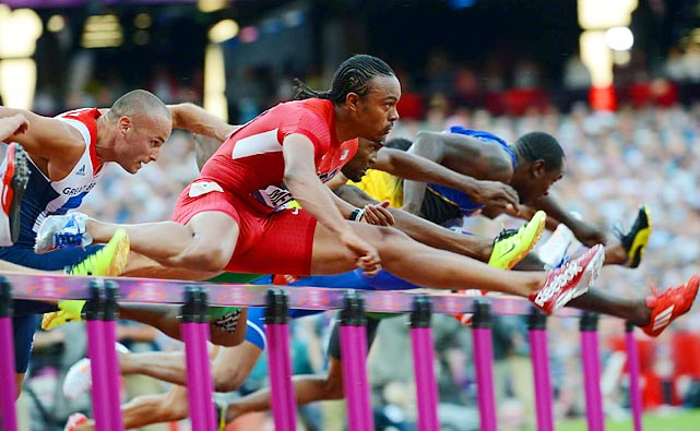 Aries Merritt posted the fifth sub-13 of his career (12.92) to become the first U.S. man to win the Olympic 110-meter hurdles gold medal since Allen Johnson in 1996.