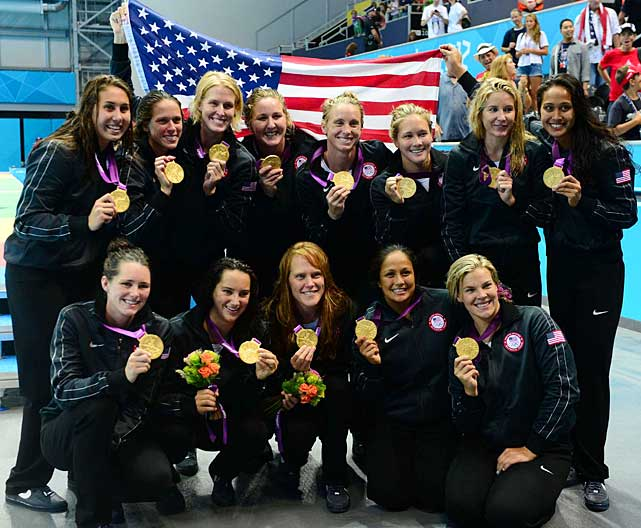 Paced by Maggie Steffens, who scored five goals in the final and led all scorers in London with 21, the U.S. women won their first ever gold in water polo with an 8-5 victory over Spain.