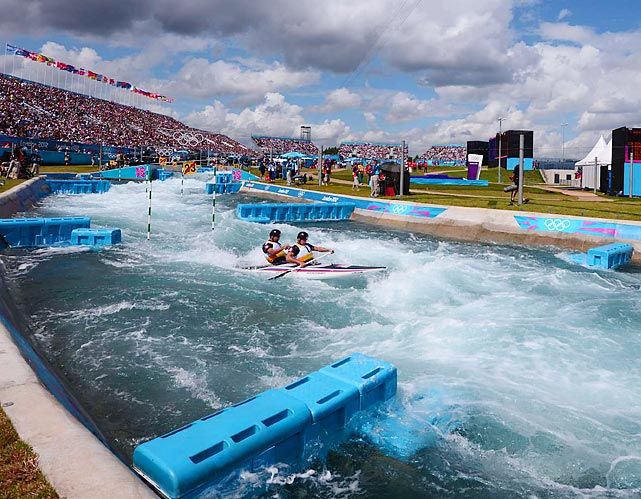 Firth of Froth  British paddlers Tim Baillie and Etienne Stott churned their way to a surprise gold medal in whitewater canoe doubles, edging countrymen David Florence and Richard Hounslow.