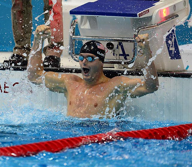 Tyler Clary, a rising challenger to Michael Phelps and Ryan Lochte,  was goggle eyed after knocking off the favored Lochte to win the 200 backstroke.