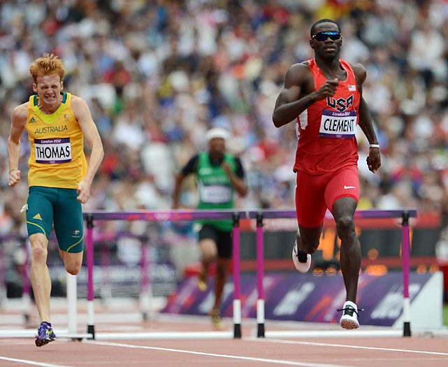 Kerron Clement had the second fastest time out of all competitors in the 400m hurdles with a 48.48.  Tristan Thomas of Australia finished tied for fifth.