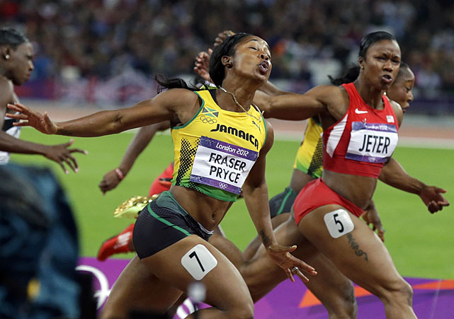 Shelly-Ann Fraser-Pryce is only the third woman in history to win back-to-back Olympic 100-meter titles, joining Gail Devers and Wyomia Tyus.