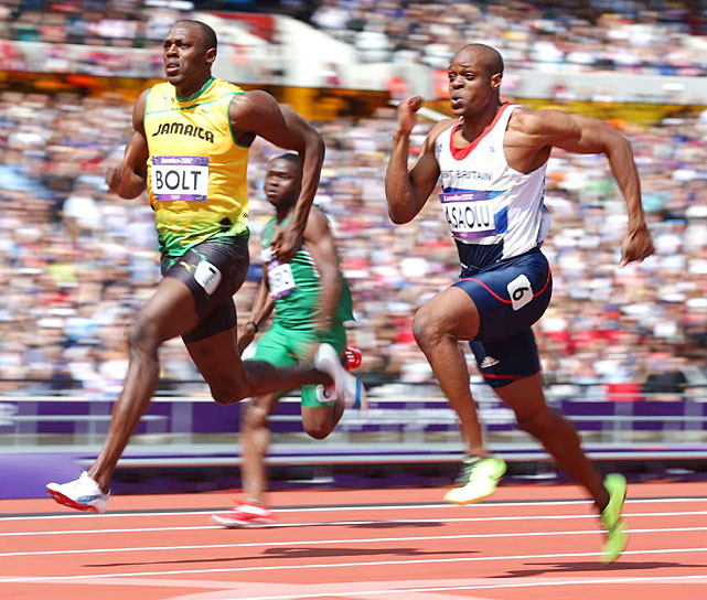 Usain Bolt begin defense of his 100-meter title by advancing in the opening rounds of the qualifying.