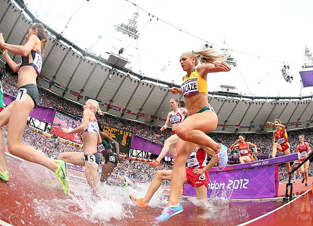 Genevieve LaCaze of Australia failed to qualify for the 15-woman final. Two U.S. runners did: Emma Coburn with the 11th best time and Bridget Frankek with the 14th fastest.