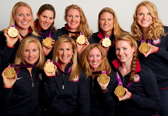 (From left, top row) Esther Lofgren, Caryn Davies, Eleanor Logan, Zsuzsanna Francia and Taylor Ritzel. (Bottom) Meghan Musnicki, Erin Cafaro, Mary Whipple and Caroline Lind.
