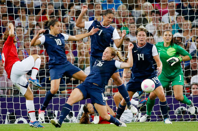 Japan had several chances in front of the U.S. net but was denied and held to just one goal as the U.S. refused to give in.