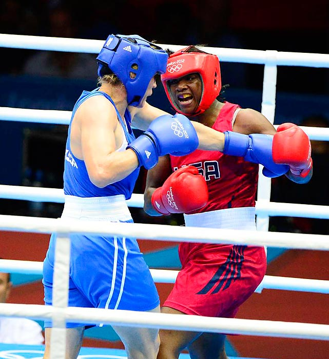 Seventeen-year-old Claressa Shields of Flint, Mich., dominated Nadezda Torlopova, 33, of Russia to win the 75-kg title and the U.S.'s only boxing gold medal of the Games.