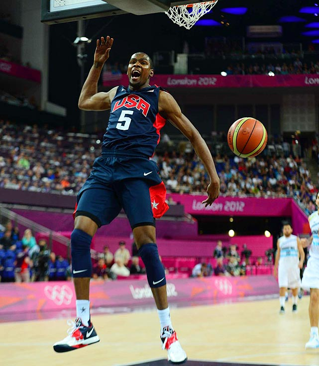 Team USA's top scorer at the 2010 FIBA World Championship (22.8 points) picked up right where left off in London, leading the gold medalists with 19.5 points and making 52.3 percent from three-point range. Durant's fluid perimeter stroke removes the need for a shooting specialist, and his size gives the U.S. lineup versatility. They don't get more selfless than Durant, who didn't offer a trace of annoyance when initially benched in favor of Anthony while Krzyzewski experimented with different combinations during pre-Olympic exhibitions.