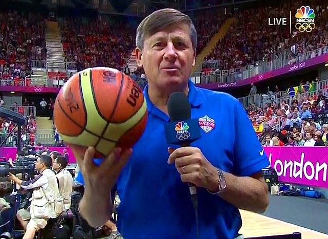 Craig Sager is wearing NORMAL clothes!!! There has to be Olympic Pimp Gear available, I saw the opening ceremony!!!!