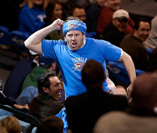 Cameron Hughes is the only man or woman known to be paid to be a fan. He has attended 1,010 games in 36 states, five Canadian provinces and four countries. More than 10 million fans have seen his work. Here are some photos of his craziness.