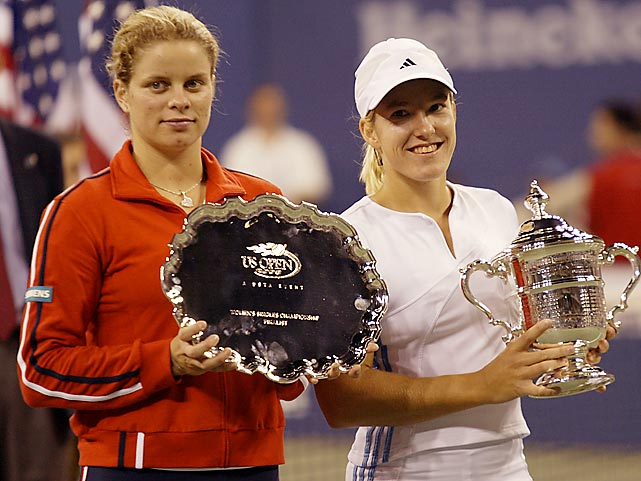 In 2003, Clijsters took over the No. 1 ranking for the first time in her career shortly before the U.S. Open. In her first major as the top seed, she'd go on to lose to Justine Henin in straight sets. In a storied rivalry between the two, Clijsters holds the career head-to-head 13-12.